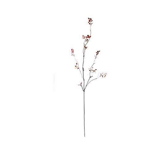 ZJJZH Kunstbloemen Simulatie handblad rode blad simulatie plant bloemstuk met blad bruiloft bloem hoogwaardige bloem Bloem Producten inclusief: Kunstbloemen.
