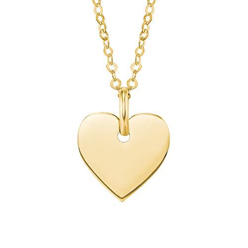 amor Kette mit Anhänger für Damen Gold 585/14 ct,42cm,Herz