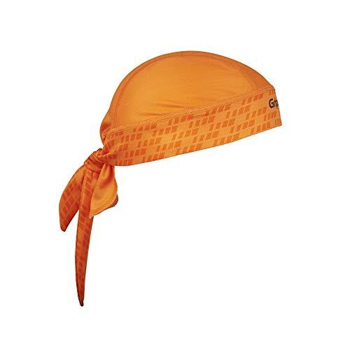 GripGrab Unisex– Erwachsene Bandana Multifunktionales Kopftuch Hochatmungsaktiver Schweiß-und UV-Schutz für Schweißtreibene Aktivitäten Verschiedene Farben Headwear Multi Purpose, Orange, Onesize