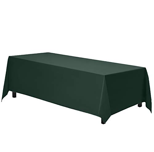 Gee Di Moda Rectangle Tablecloth - 70 x 120 Inch - Hunter Green Rectangular Table Cloth in Washable Polyester - Great for Buffet Table, Parties, Holiday Dinner, Wedding & More