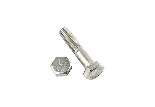 2 Stk Sechskantschraube mit Schaft DIN 931 M12 x 140 - Edelstahl V2A
