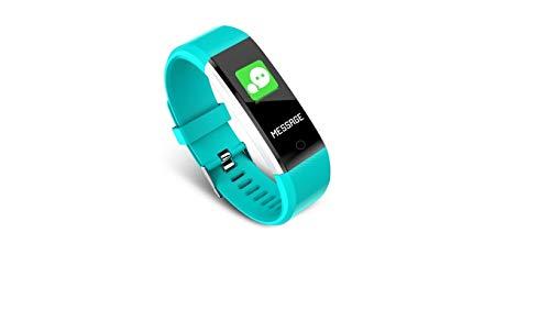 SmartFit Bluetooth Watch Fitness Tracker Braccialetto Frequenza Cardiaca Contacalorie Promemoria sedentaria Android iOS Compatibilità Sistemi (Aqua - Blu polvere)