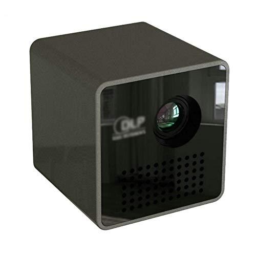 BJGUG Mini Proyector Portátil 15 lúmenes Proyector LCD HD Compatible con 1080P DLP Micro Projector,Black