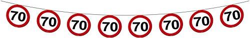 Folat Geburtstag Party Verkehrsschild 12 Meter BANNER – 70. Geburtstag