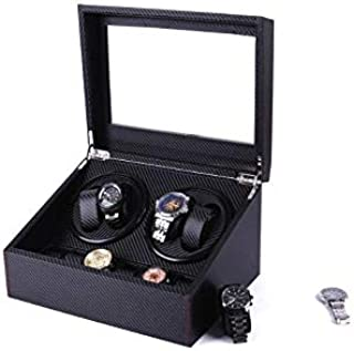 Carbon fiber 4+6 storages watch winder double head turntable motor box mechanical watch turntable high-end winder