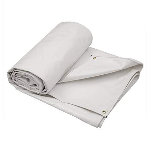 DJ schaduw doek dikke waterdichte zonnecrème PVC-dekzeil, dekzeil vloerbedekking, tentzeil (kleur: wit, maat: 3 * 6 m)
