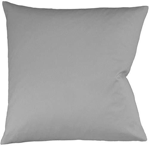 fleuresse Interlock-Jersey-Kissenbezug Uni Colours grau 9021 Größe 40x80 cm