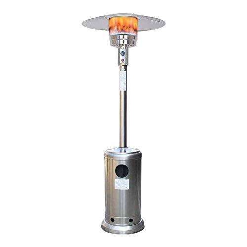 Calentador Terraza, Calentador De Patio Comercial Al Aire Libre Patio Calentadores De Propano Ahorro De Energía De Acero Inoxidable Calentadores De Gas, Estufas Móviles Paraguas ( Color : C )