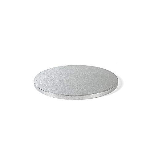 Decora 0931605 Sottotorta Tondo, Cartone, Argento, Ø 34 X H 1,2 CM, 1.2 cm