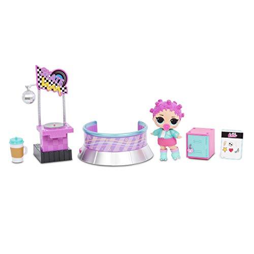 LOL Surprise Furniture Roller Rink with Roller Skater Doll & 10+...