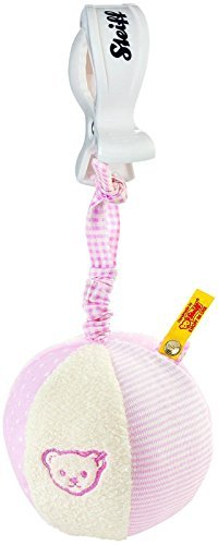 Steiff Rattle Ball With Rustling Foil - Pink by Steiff