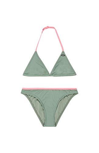 O'NEILL Pg Essential Jr Bikini Triángulo, Niñas, Multicolor (Lily Pad), 176