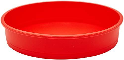 Forma para Bolo Silicone Redondo 20 Cm Mimo Style Vermelho