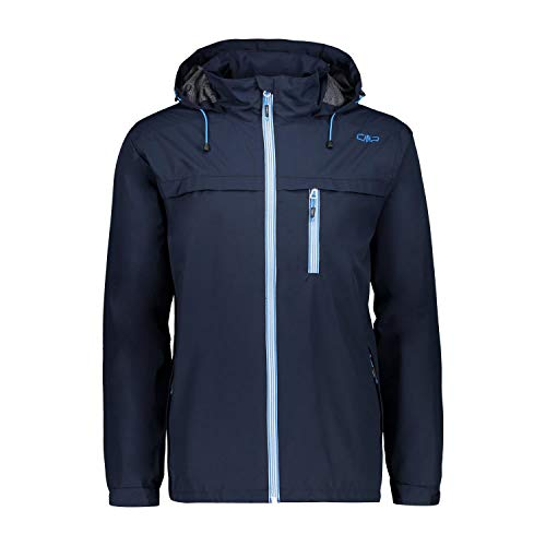 CMP Herren Wasserdichte Komfort Fit Jacke WP 10.000, Black Blue, 52, 30X9757