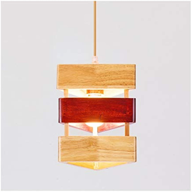 Pendelleuchten Pendelleuchte Moderne Einfache Holz Kunst Wohnzimmer Dekor Deckenleuchte Schlafzimmer Esstisch Cafe Restaurant Bar Kronleuchter (Farbe   A)