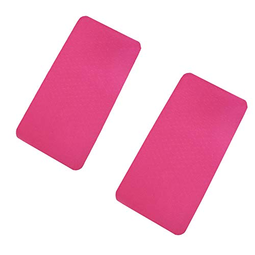Confezione da 2 tappetini antiscivolo in TPE, per yoga, fitness, super spessi, per pancia sana, ginocchia, supporto piatto, cuscinetti ispessiti, colore rosa