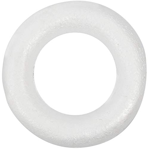 RETYLY Craftmill Half Rounded foam Rings / Wreaths 25cm - Box of (5)
