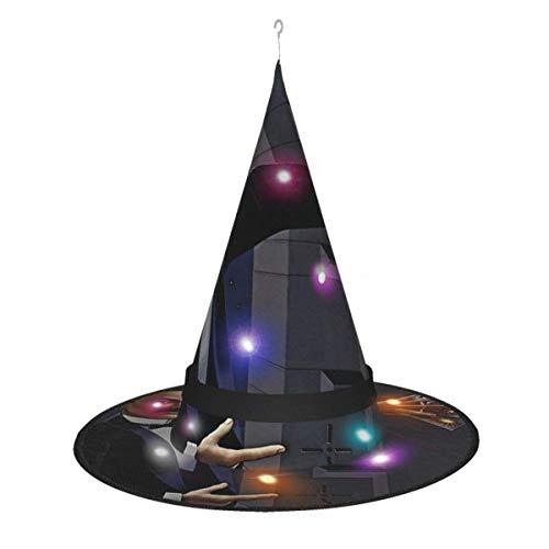 AOOEDM - Sombrero de Bruja de Halloween para Fiesta, decoracin de Cosplay, Azul, ostra, Agentes de Culto, de la Fortuna, Sombrero de Bruja para Mujer, Accesorio de Disfraz