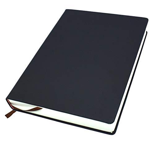 CenYC Pequeño cuaderno de notas de bolsillo, 660 páginas sin papel de línea A6, diario con tapa dura de piel sintética para diario de viaje