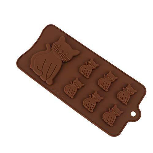 Zonster 1pcs Art und Weise Kuchenform Schokoladen-Fondant-Geb?ck 7-Cavity-Silikon-Backformen Nette Katze Kitten Küchenwerkzeug