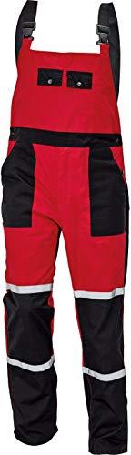 DINOZAVR Tayra Impermeable Pantalones con Peto de Trabajo para Hombre - Resistente al Aceite para Mecánicos - Rojo EU52