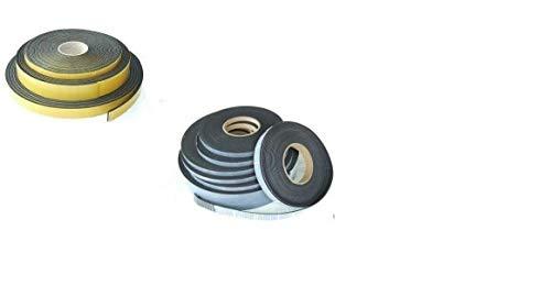 (0,62 €/m) Moosgummiband Zellkautschukband 9,6 Meter x 35 x 1 mm Gummistreifen Gummiprofil EPDM Dämmband Dichtungsband selbstklebend,