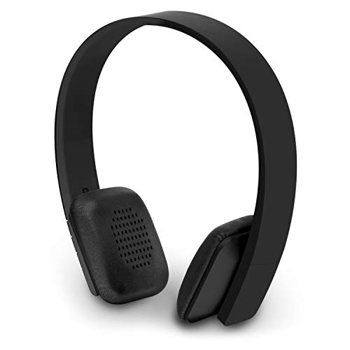 Aluratek Bluetooth Wireless Headphones with Built-in Battery, Stream Audio from iPhone, iPad, Smartphone, Tablet, PC, MAC, Laptop (ABH04FB), Black