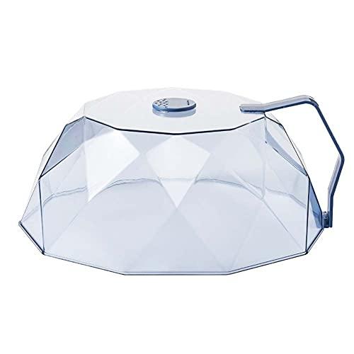 Malla Tapa de Microondas Reutilizable Campana de Comida Transparente Cubierta de Placa Protector Contra Salpicaduras de Alimentos para Barbacoa en Interiores al Aire Libre Reusable ( Color : Blue )