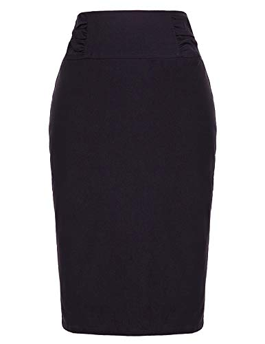 Kate Kasin Knee Length Pencil Skirt for Office Women Size S KK268-1