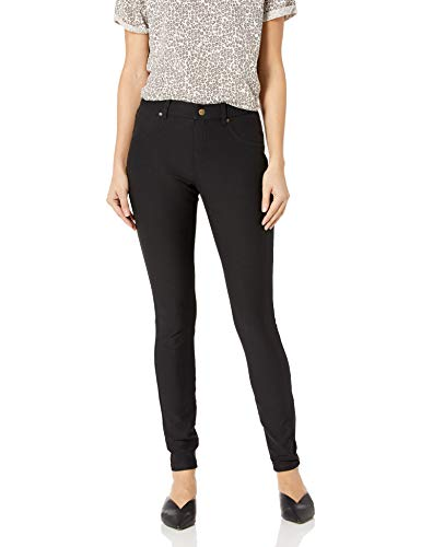 HUE Women's Essential Denim Skimmer Leggings, Black, Large