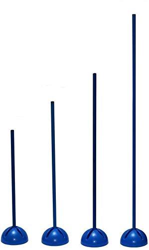 Boje Sport Slalomstange mit befüllbarem X-Standfuß, Stange 120 cm - Farbe: blau