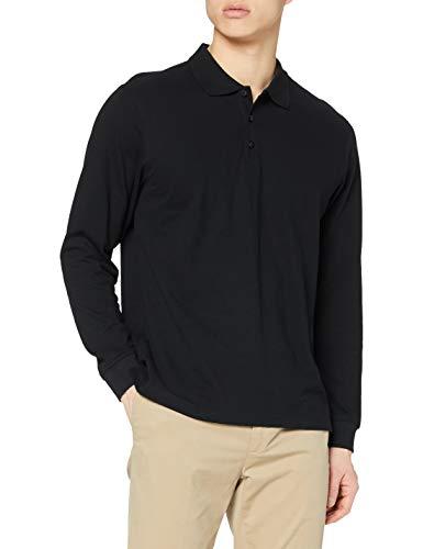 Clique Herren Classic Long Sleeve Polo Poloshirt, schwarz, XXXXL