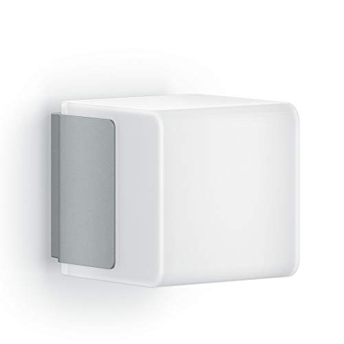 Steinel Außenwandleuchte L 835 LED iHF silber, LED Wandlampe, 160° Bewegungsmelder, vernetzbar, per App bedienbar