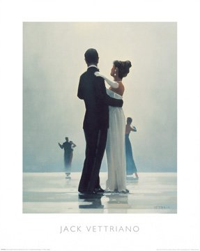 Art-Galerie Kunstdruck/Poster Jack Vettriano - Dance me to The End of Love - 40 x 50cm - Premiumqualität - Made in Germany