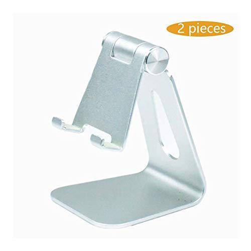 Stands Adjustable Cell Phone, Holder, Cradle, Dock, Aluminum Desktop Compatible (Color : White)