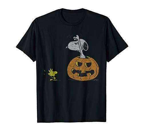 Peanuts Halloween Snoopy Woodstock T-Shirt