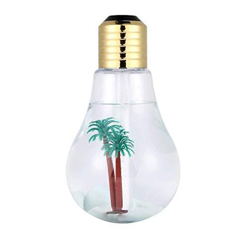 KUNXIAOY Oficina Temporizador Ajustable decoración del Dormitorio de la lámpara del Color de Aire Limpio Ninguna radiación Silencio 400 ml de Gran Capacidad luz de la Noche humidificador luz Suave