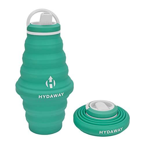 Hydaway - Botella de agua plegable | Tapa abatible | 750 ml...
