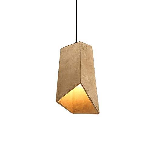 XIAOXY Loft Retro Industrial Style Chandelier de hormigón, Personalidad creativa Restaurante Cemento Araña, Personalidad Lámpara de hormigón simple, Lámpara colgante de techo, Lámpara de dormitorio de
