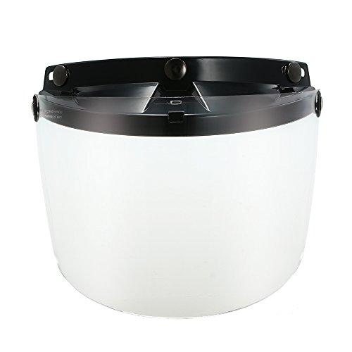 KKmoon Visera Caco Moto,Lente Protectora de Visera Abatible Universal de 3 Broches para Casco de Motocicleta