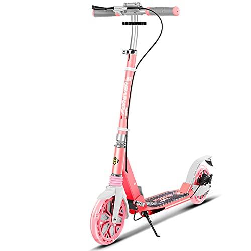 patinetes Scooter, Diseño De Pedal Antideslizante, Capacidad De Transporte Fuerte, Plegado Rápido En 3 Segundos, Sin Ocupar Espacio(Color:Rosa Oscuro)