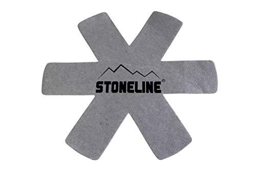 STONELINE® Pfannenschutz Set, 5-teilig, aus Vlies, Stapelschutz Kratzschutz Pfannenschoner