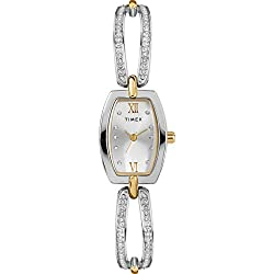 Two-Tone Dress Analog 18mm Bangle Watch