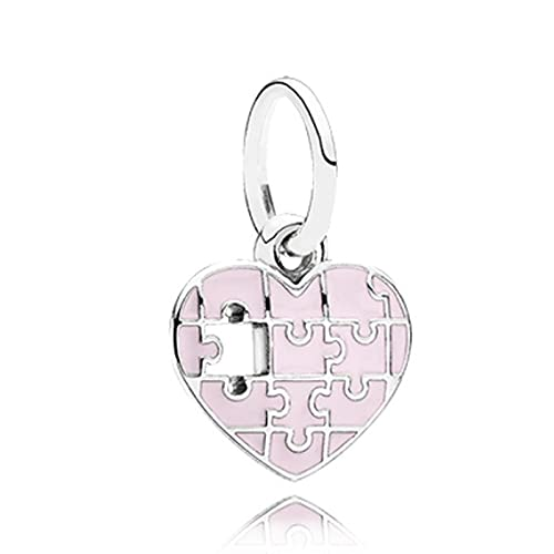 Pandora Fashion 925 Charm Colors Puzzle Love Bead Jewelry Style Fit Pulsera Brazalete Accesorios Para Mujer Regalo