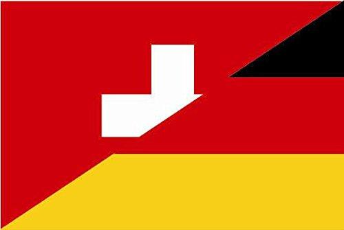 U24 Fahne Flagge Schweiz-Deutschland Bootsflagge Premiumqualität 40 x 60 cm