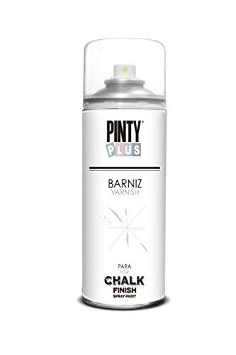 Pinty Plus - Barniz mate para pintura efecto caliza/tiza en espray – 400 ml – transparente (Mate)