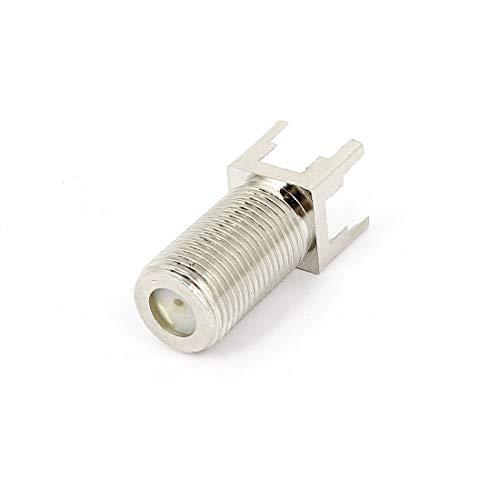 Aexit F-Typ Buchse PC-Leiterplattenmontage Gerade RF-Koaxial-TV-Antennenanschluss (e77776d127e419a14fd7576e5b7e08c9)