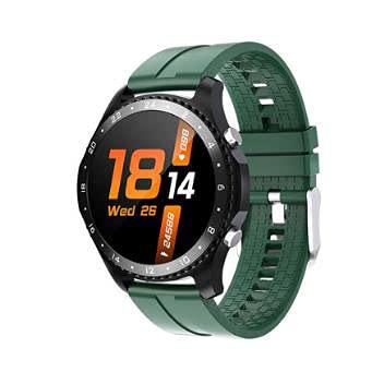 Bysion Reloj Inteligente, rastreador de Ejercicios, presión Arterial, frecuencia cardíaca, Monitor de sueño, podómetro, cronómetro, Resistente al Agua, Reloj Inteligente para Hombres