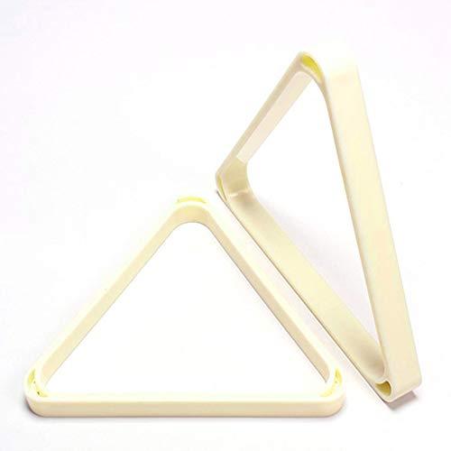 JRPT ABS Billard-Triangel, leicht zu reinigen Dreieck Billard Ball Rack, 52,5/57,2 mm Kugel Wunderschönen/Weiß / 52.5mm