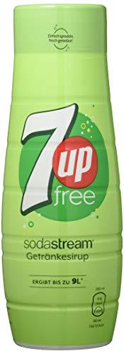 SodaStream Sirup 7UP free - 1x Flasche ergibt 9 Liter Fertiggetränk, Sekundenschnell zubereitet und immer frisch, Seven Up ohne Zucker 440 ml